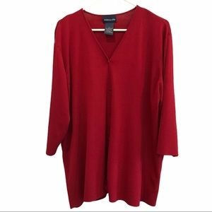 Additionelle red button cardigan sweater size 4x